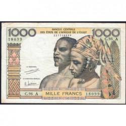 Côte d'Ivoire - Pick 103Ah - 1'000 francs - Série C.96 - 1971 - Etat : TB