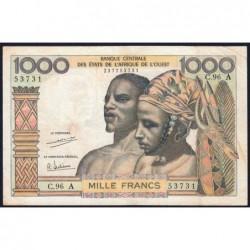 Côte d'Ivoire - Pick 103Ah - 1'000 francs - Série C.96 - 1971 - Etat : TB+