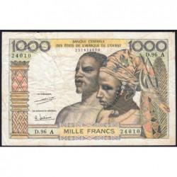 Côte d'Ivoire - Pick 103Ah - 1'000 francs - Série D.96 - 1971 - Etat : TB-
