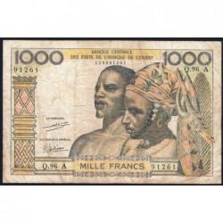 Côte d'Ivoire - Pick 103Ah - 1'000 francs - Série Q.96 - 1971 - Etat : TB-
