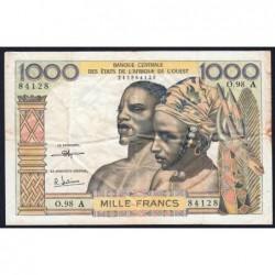 Côte d'Ivoire - Pick 103Ai - 1'000 francs - Série O.98 - 1973 - Etat : TB+