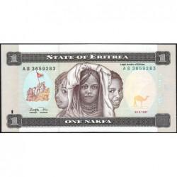 Erythrée - Pick 1 - 1 nakfa - Série AB - 24/05/1997 - Etat : NEUF