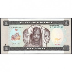 Erythrée - Pick 1 - 1 nakfa - Série AC - 24/05/1997 - Etat : NEUF