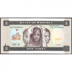 Erythrée - Pick 1 - 1 nakfa - Série AD - 24/05/1997 - Etat : NEUF