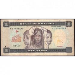 Erythrée - Pick 1 - 1 nakfa - Série AG - 24/05/1997 - Etat : TB-