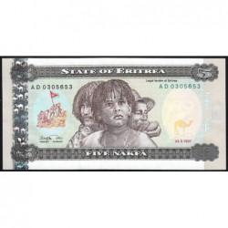 Erythrée - Pick 2 - 5 nakfa - Série AD - 24/05/1997 - Etat : NEUF