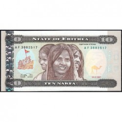 Erythrée - Pick 3 - 10 nakfa - Série AF - 24/05/1997 - Etat : pr.NEUF