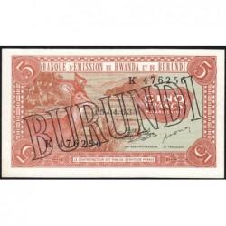 Burundi - Pick 1_2 - 5 francs - Série K - 15/04/1963 (1964) - Etat : SUP