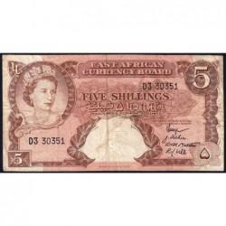 Afrique Orientale Britannique - Pick 37 - 5 shillings - Série D3 - 1958 - Etat : TB-