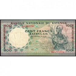 Katanga - Pick 12a_1 - 100 francs - 18/05/1962 - Série AC - Etat : TB