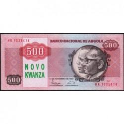 Angola - Pick 123 - 500 novo kwanza - Série HK - 11/11/1987 (1990) - Etat : pr.NEUF