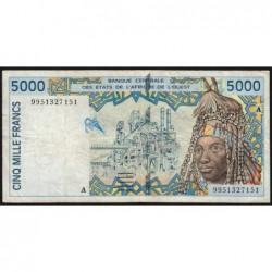 Côte d'Ivoire - Pick 113Ai - 5'000 francs - 1999 - Etat : TB-