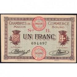 Macon et Bourg - Pirot 78-6 - 1 franc - Série B - 01/09/1915 - Etat : pr.NEUF
