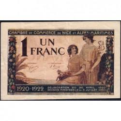 Nice - Pirot 91-11 - 1 franc - Série 76 - 30/04/1920 - Etat : TB