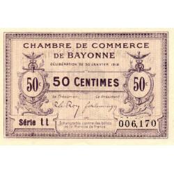 Bayonne - Pirot 21-55 - 50 centimes - Série tt - 30/01/1918 - Etat : SPL