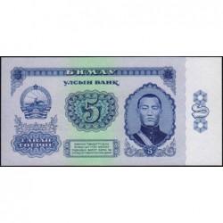 Mongolie - Pick 37 - 5 tugrik - Série AC - 1966 - Etat : pr.NEUF
