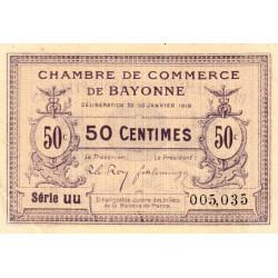 Bayonne - Pirot 21-55 - 50 centimes - 1918 - Etat : SUP