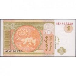 Mongolie - Pick 61Aa - 1 tugrik - Série AE - 2008 - Etat : NEUF