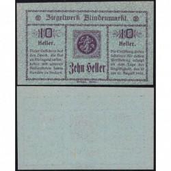 Autriche - Notgeld - Blindenmarkt - 10 heller - 1920 - Etat : SPL+