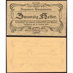 Autriche - Notgeld - Blindenmarkt - 20 heller - 1920 - Etat : NEUF