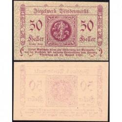 Autriche - Notgeld - Blindenmarkt - 50 heller - 1920 - Etat : SPL+