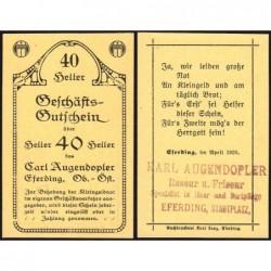 Autriche - Notgeld - Eferding - 40 heller - 1920 - Etat : NEUF