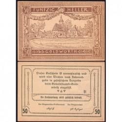 Autriche - Notgeld - Goldwörth - 50 heller - 1920 - Etat : NEUF