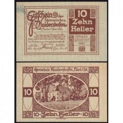 Autriche - Notgeld - Haidershofen - 10 heller - 1920 - Etat : NEUF