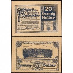 Autriche - Notgeld - Haidershofen - 20 heller - 1920 - Etat : pr.NEUF