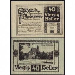 Autriche - Notgeld - Haidershofen - 40 heller - 1920 - Etat : pr.NEUF