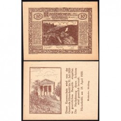 Autriche - Notgeld - Hinterbrühl - 10 heller - 25/04/1920 - Etat : SPL