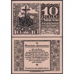 Autriche - Notgeld - Hinterstoder - 10 heller - Type a - 14/04/1920 - Etat : NEUF