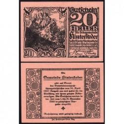 Autriche - Notgeld - Hinterstoder - 20 heller - Type a - 14/04/1920 - Etat : pr.NEUF