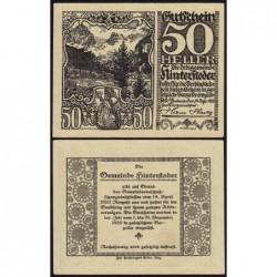 Autriche - Notgeld - Hinterstoder - 50 heller - Type a - 14/04/1920 - Etat : pr.NEUF