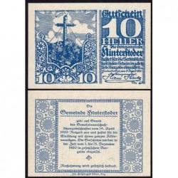 Autriche - Notgeld - Hinterstoder - 10 heller - Type c - 14/04/1920 - Etat : NEUF