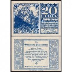Autriche - Notgeld - Hinterstoder - 20 heller - Type c - 14/04/1920 - Etat : NEUF