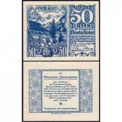 Autriche - Notgeld - Hinterstoder - 50 heller - Type c - 14/04/1920 - Etat : NEUF