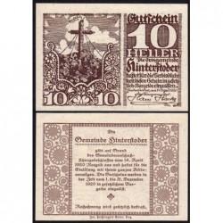 Autriche - Notgeld - Hinterstoder - 10 heller - Type e - 14/04/1920 - Etat : NEUF
