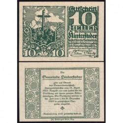Autriche - Notgeld - Hinterstoder - 10 heller - Type f - 14/04/1920 - Etat : NEUF