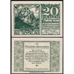 Autriche - Notgeld - Hinterstoder - 20 heller - Type f - 14/04/1920 - Etat : NEUF