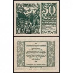 Autriche - Notgeld - Hinterstoder - 50 heller - Type f - 14/04/1920 - Etat : SPL+