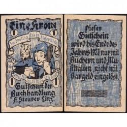 Autriche - Notgeld - Linz - 1 krone - Type a - 1920 - Etat : NEUF
