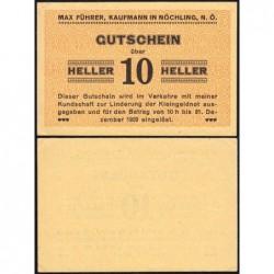 Autriche - Notgeld - Nöchling - 10 heller - Type a - 1920 - Etat : SPL+