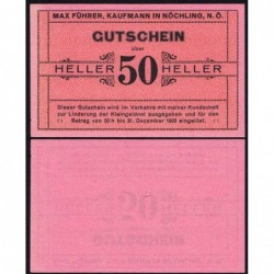 Autriche - Notgeld - Nöchling - 50 heller - Type a - 1920 - Etat : SPL+