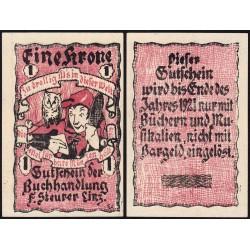 Autriche - Notgeld - Linz - 1 krone - Type d - 1920 - Etat : NEUF