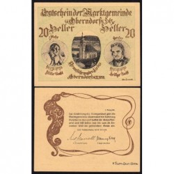 Autriche - Notgeld - Oberndorf - 20 heller - 1920 - Etat : NEUF
