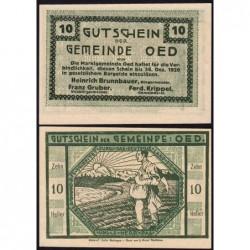 Autriche - Notgeld - Oed - 10 heller - 1920 - Etat : NEUF