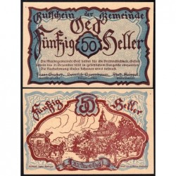Autriche - Notgeld - Oed - 50 heller - 1920 - Etat : NEUF