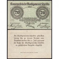 Autriche - Notgeld - Scheibbs - 20 heller - Type Ia - 15/02/1920 - Etat : NEUF