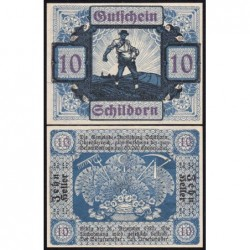 Autriche - Notgeld - Schildorn - 10 heller - Type c - 1920 - Etat : NEUF